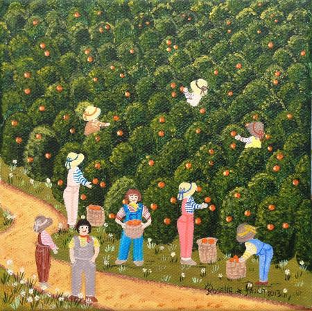 La cueillette des oranges