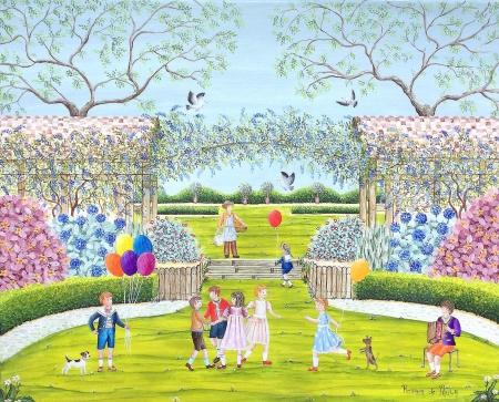 La ronde des enfants dans le parc