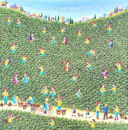 Dans le champ de manioc