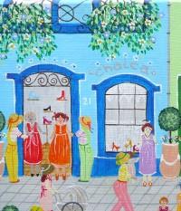 la maison bleue en baie,rosana de paula cessac,brésil,baie de somme,peinture naïve