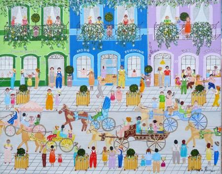 brésil,baie de somme,peintures naïves,peinture naïve,la maison bleue en baie,rosana cessac,rosana de paula cessac