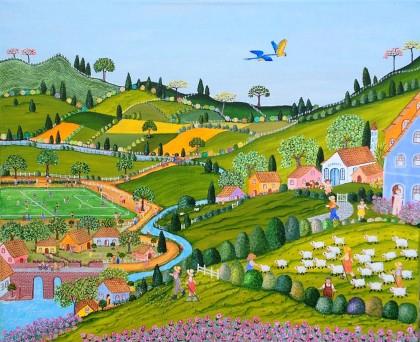 la maison bleue en baie,la galerie de rosana,rosana de paula cessac,brésil,baie de somme,art naïf